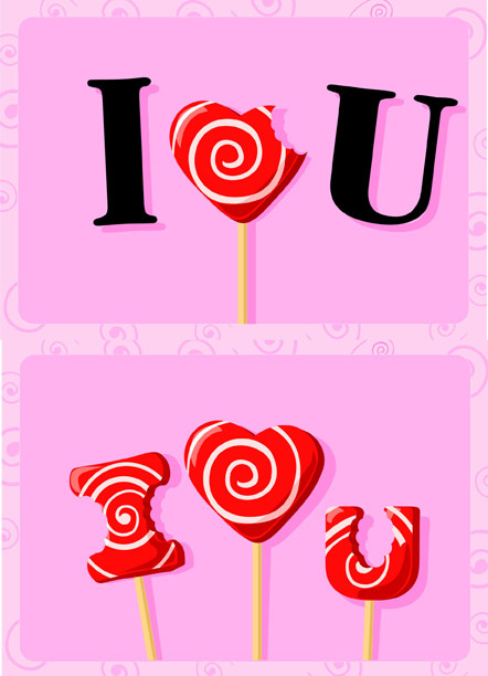 I love you sweets Vector