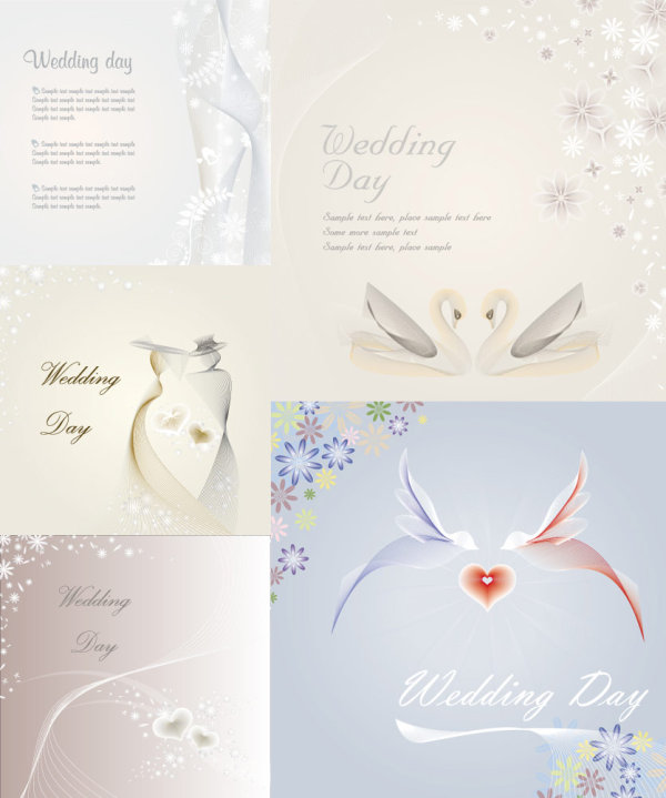 Wedding template vector of material