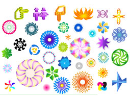 Colorful rotating pattern vector material