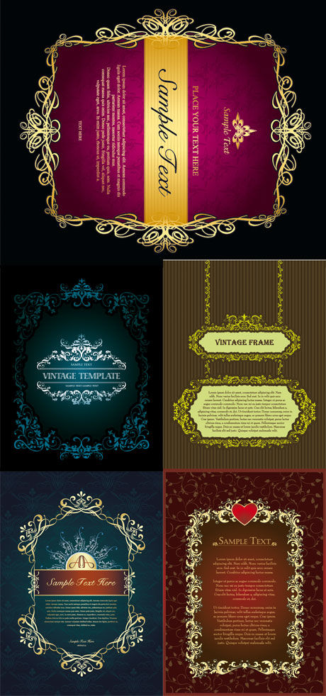 European classical decorative frame Vector