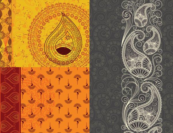 India ham grain background vector material