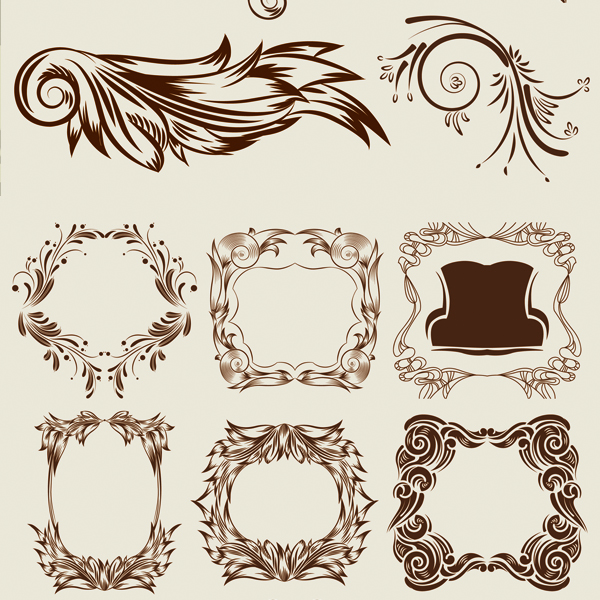 Elegant classic decorative pattern vectors