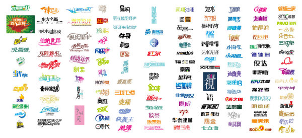 Chinese typeface design vector source material 02