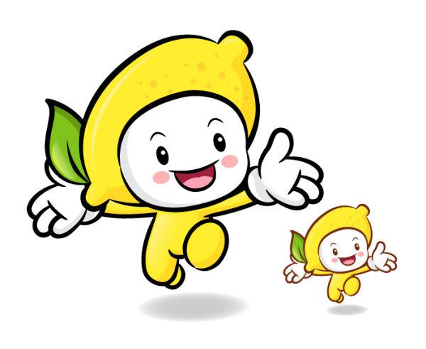Love the cartoon super fruit Vector 10