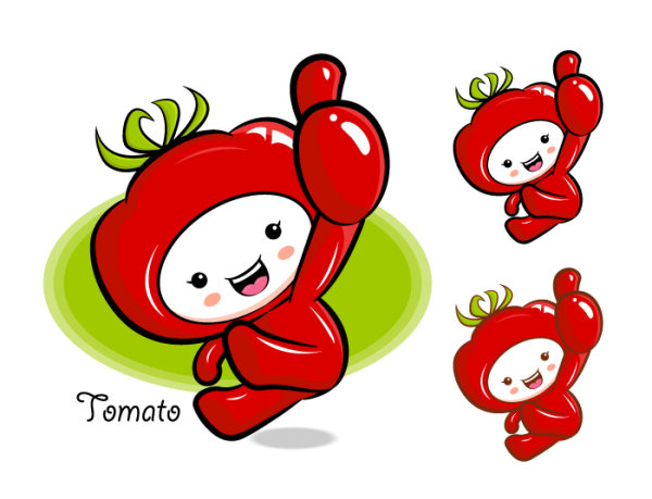 Love the cartoon super fruit Vector 8