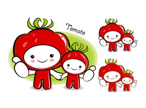 Love the cartoon super fruit Vector 5
