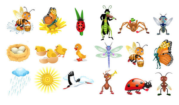 Cute Cartoon Dragonflies