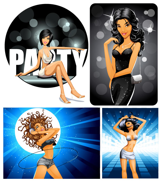 party girl Vector
