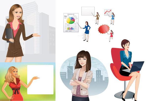Career women vector of material