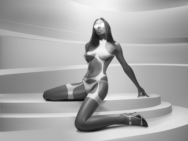 Vector realistic woman