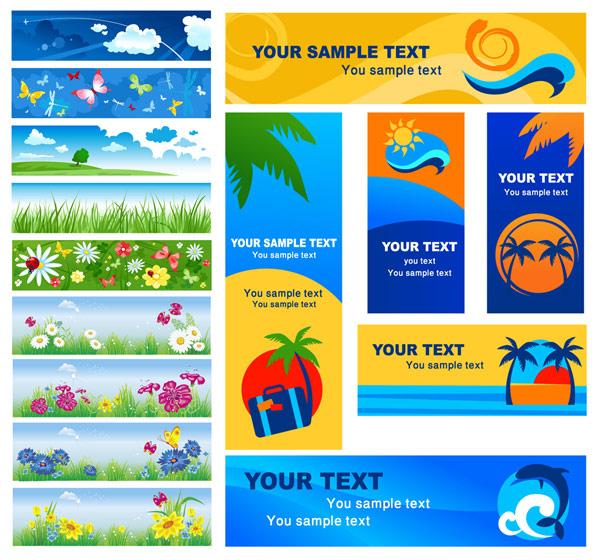 Vector banner summer