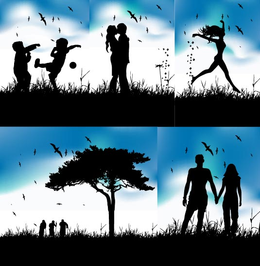 Beautiful silhouette Vector