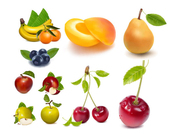 AI Vector drawing realistic fruit