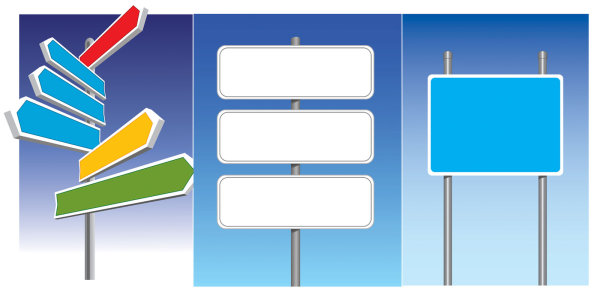 Vector road signs
