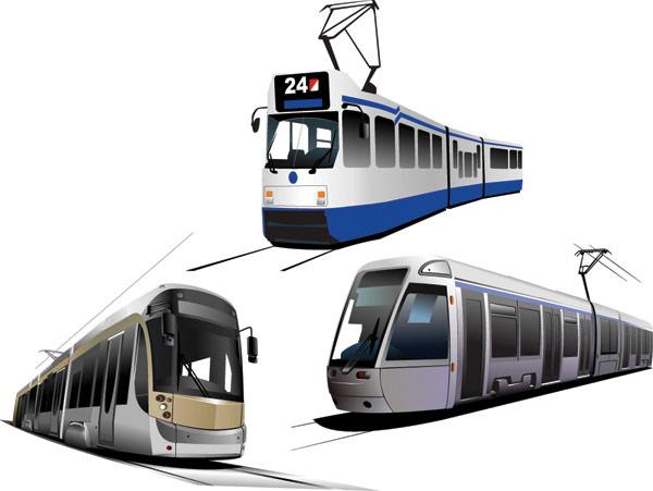 Vector tram