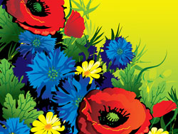 Gorgeous flowers vector of material