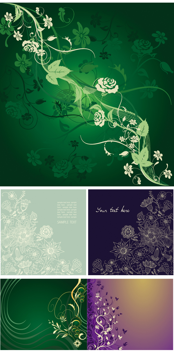 {Gorgeous, elegant, mysterious patterns} vector material