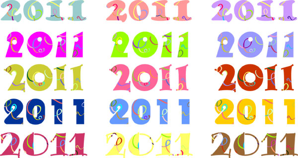 2011 digital vector material