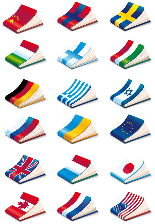 Notebook cover national flag