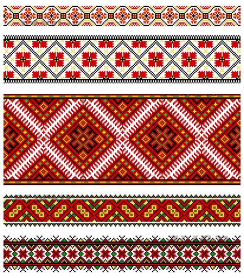 Beautiful costumes pattern 01 - Vector