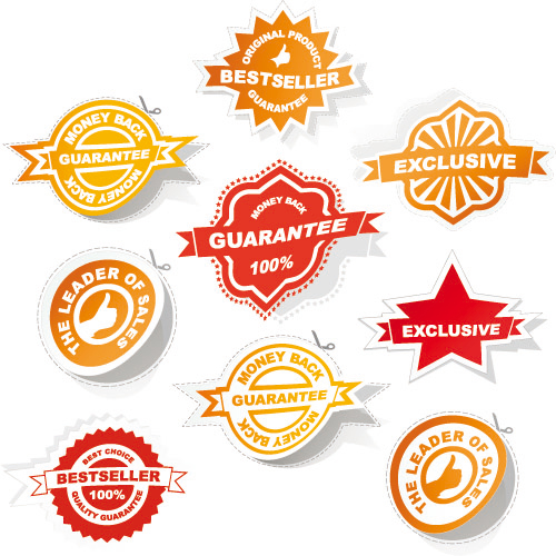 Badge labels 02- Vector