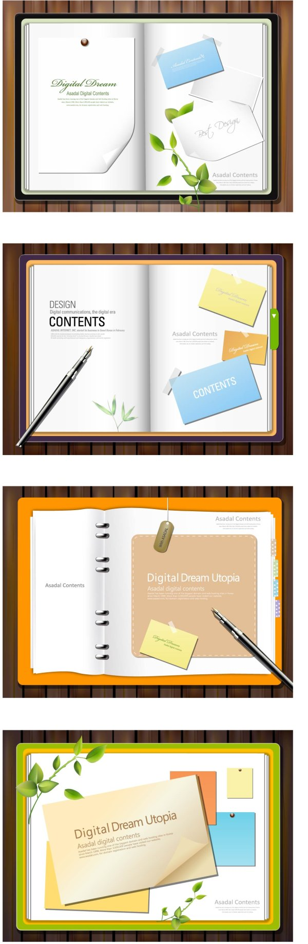 Paper notes vector