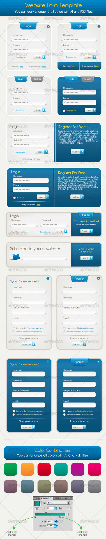 Vector register and login form