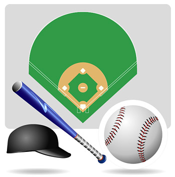 Vector baseball equipment