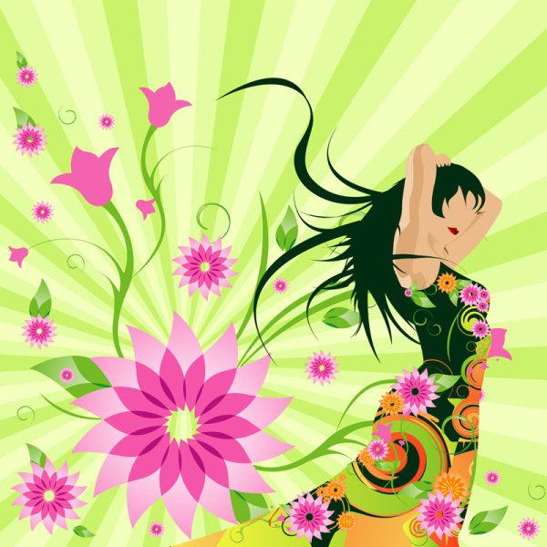 Flower girl - Vector