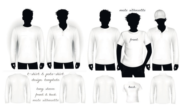 Blank T-shirt and polo shirt shirt Vector