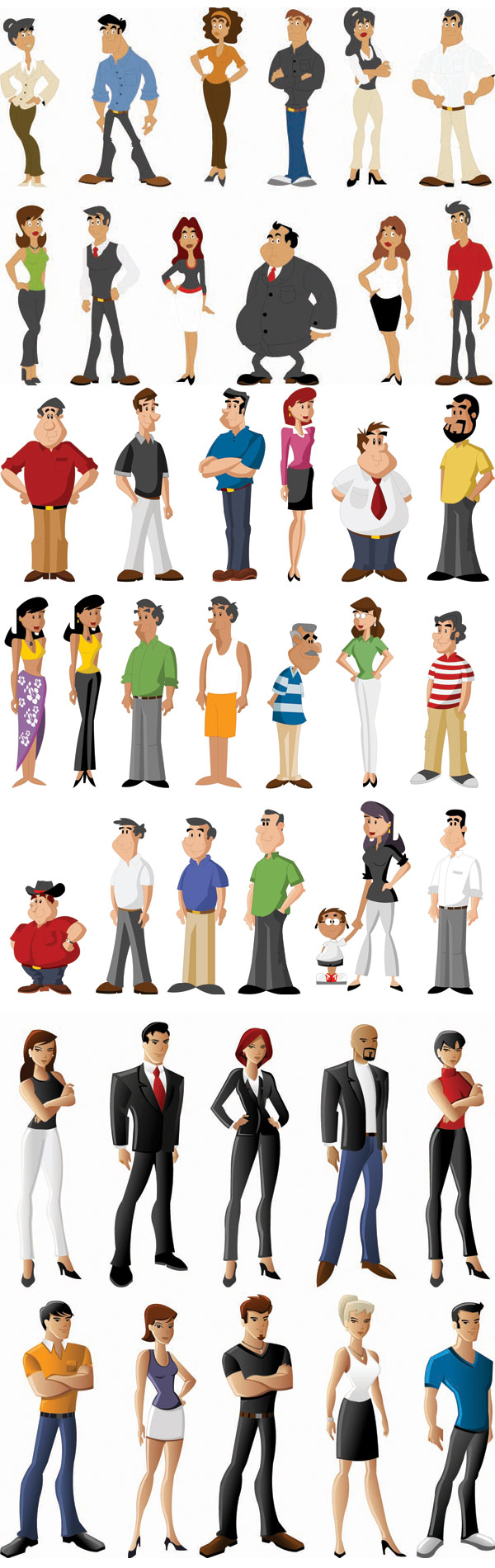 All kinds of cartoon characters - Vector