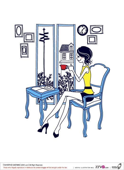 Simple drawings of women -1