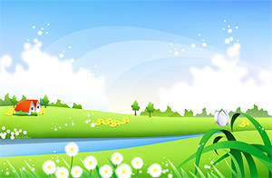 countryside scenery Vector