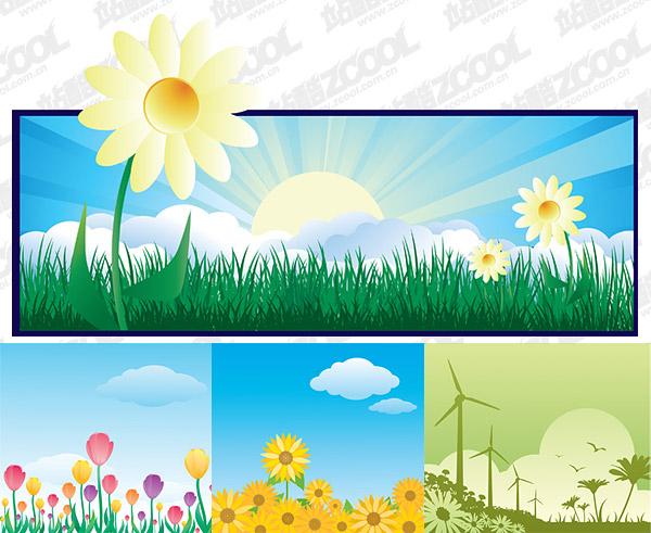 Beautiful flower theme illustration