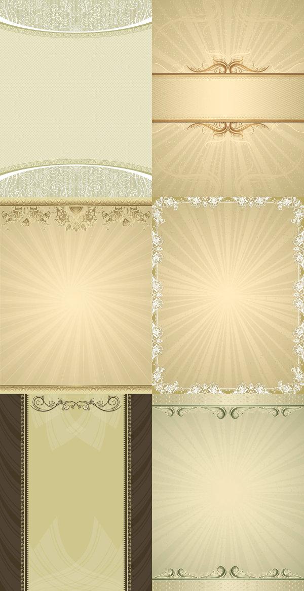 Elegant background pattern vector material