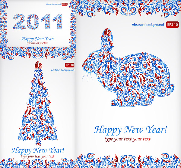 Special patterns for Christmas and a Happy New Year 2011 Vector