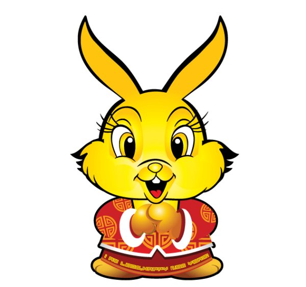 Happy New Year  Rabbit Vector
