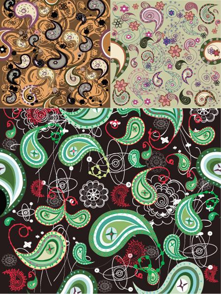 India ham pattern vector material