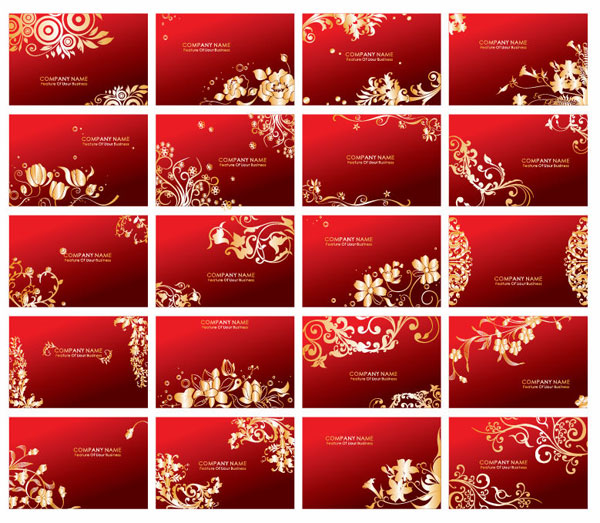 Red cards vector pattern