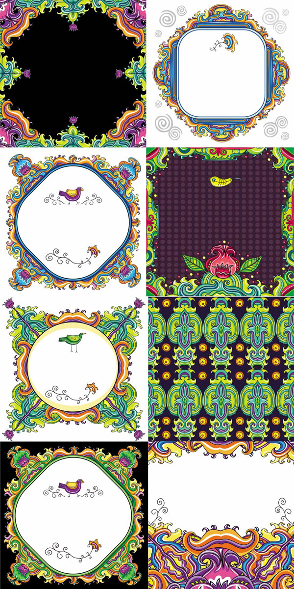 Color decorative pattern - Vector