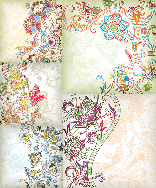 Particular butterfly pattern vector
