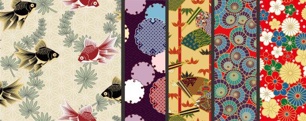 Japanese-style pattern background