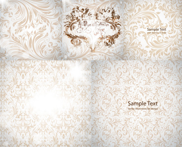 Gorgeous European-style pattern vector material