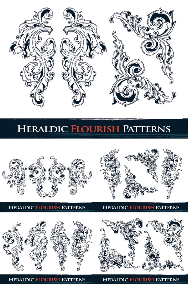 Ornate pattern vector material