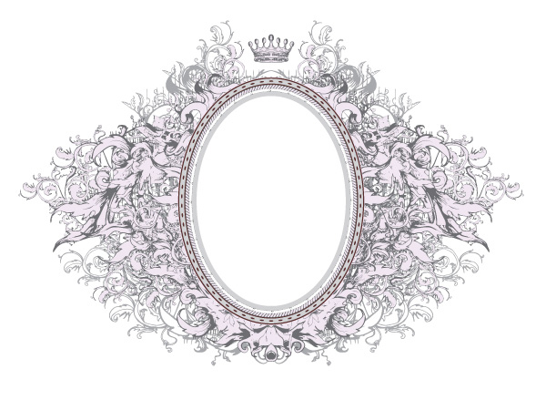 Gorgeous European-style frame - Vector