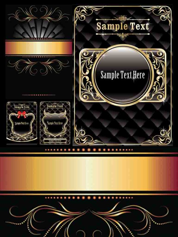Gold pattern vector material
