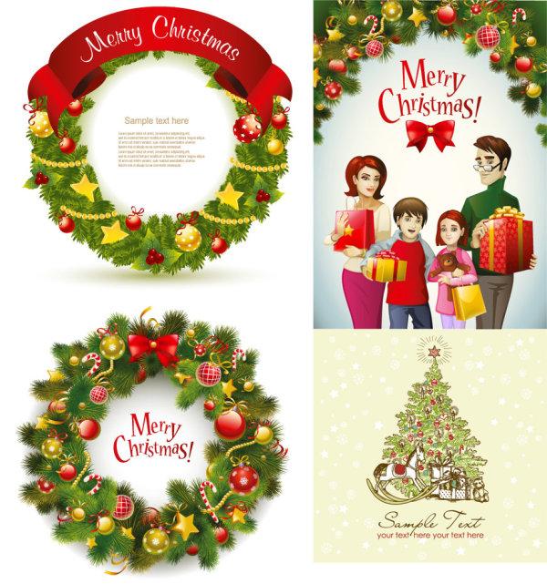 Beautiful Christmas wreath - Vector