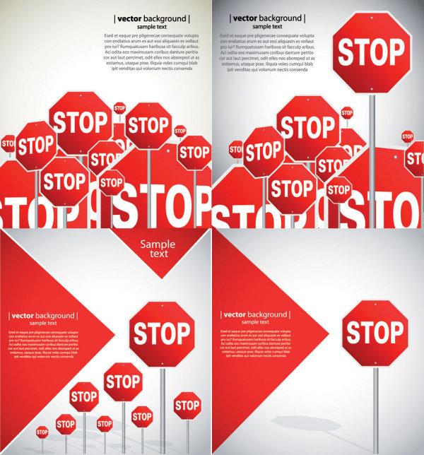 Beautiful road signs - vector material
