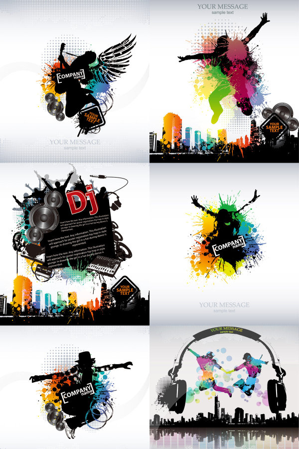 Tide music vector posters