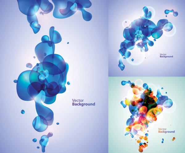 Fantasy bubble theme vector material